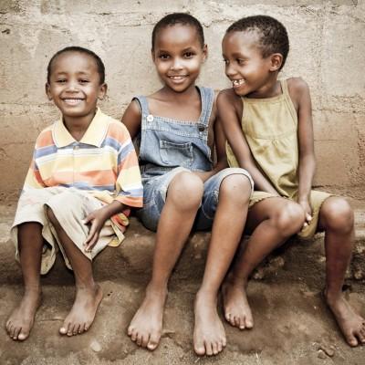 African Orphan Girls